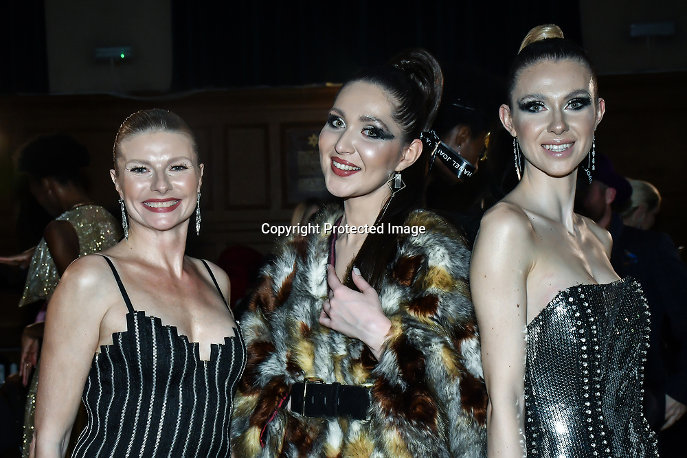 Catwalk model at The British luxury Womenswear designer, Chanel Joan Elkayam, showcases her Autumn - Winter 2020 show ahead of London Fashion Week on 13 February 2020 at Cecil Sharp House, London, UK.