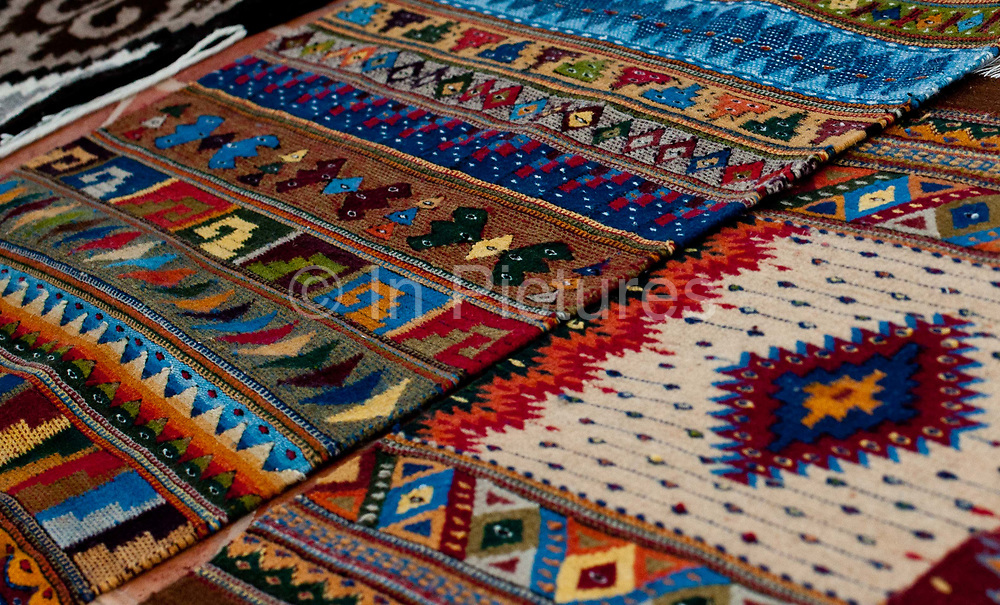 Rugs. Oaxaca in southern Mexico is known for its artisan communities, with each valley having a different specialism - weaving, pottery, wood carving.
