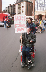 Disability rights to access protest,