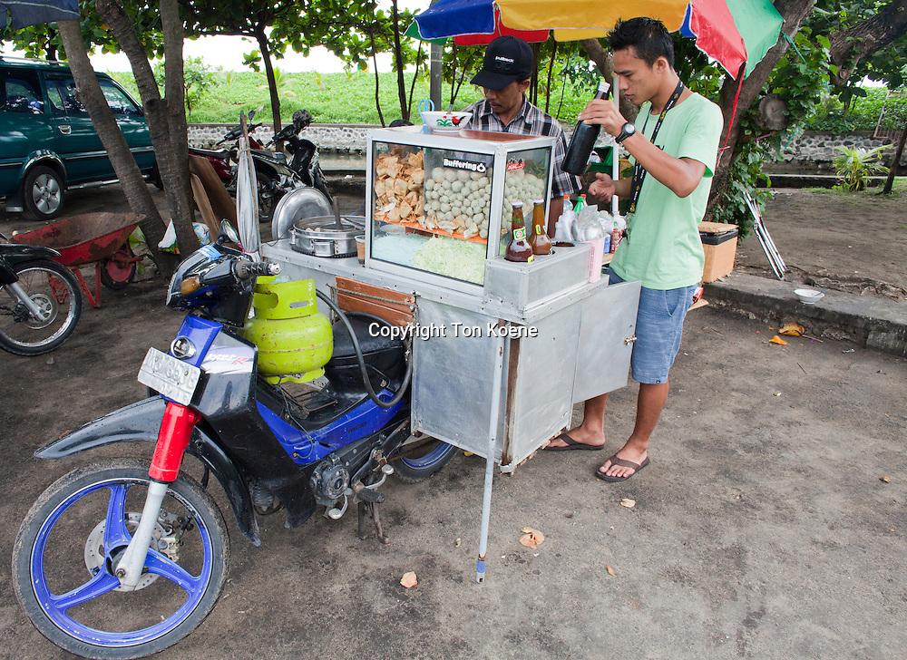 restaurant on a motorbike in Bali, Indonesia