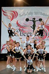 Venom Stunt and Cheer at European Cheerleading Championship 2011, on July 2, 2011, in SRC Stozice, Ljubljana, Slovenia (Photo by Matic Klansek Velej / Sportida)
