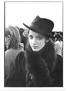 Nigella Lawson. Bullingdon Point to Point. Kingston Blount, Oxford. 1983 approx. © Copyright Photograph by Dafydd Jones 66 Stockwell Park Rd. London SW9 0DA Tel 020 7733 0108 www.dafjones.com