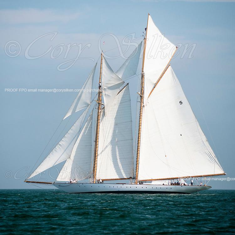 Eleonora sailing in the Sail Nantucket Regatta, day two.