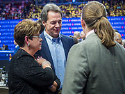 01 NOVEMBER 2019 - DES MOINES, IOWA: Governor STEVE BULLOCK (D-MT) talks to supporters before the Liberty and Justice Celebration. The Liberty and Justice Celebration is a fund raiser for the Iowa Democratic Party. Many of the Democratic candidates for the US presidency spoke at the 2019 Celebration. Iowa holds the first presidential selection event of the 2020 election cycle. The Iowa Caucuses are Feb. 3, 2020.PHOTO BY JACK KURTZ