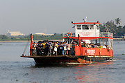 Thursday 14th August 2014: The Fort Kochi to Vypin Jankar ferry approaches Fort Kochi.