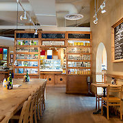 Interior of the Le Pain Quotidien organic cafe in Bethesda, MD