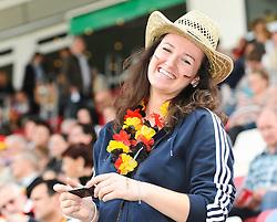 16.06.2011, Bruchwegstadion, Mainz, FIFA WOMENS WORLDCUP 2011, Deutschland (GER) vs. Norwegen (NOR), im Bild ein weiblicher fan waehrend eines Vorbereitungsspiels // during a friendly match on 2011/06/16, Bruchwegstadion, Mainz, Germany. + EXPA Pictures © 2011, PhotoCredit: EXPA/ nph/  Roth       ****** out of GER / SWE / CRO  / BEL ******