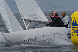 International Dragon Class Scottish Championships 2015.<br /> <br /> Day 1 racing in perfect conditions.<br /> <br /> GBR 760, Hands Off<br /> <br /> <br /> Credit Marc Turner