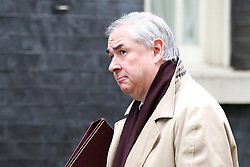 "© Licensed to London News Pictures. 18/12/2018. London, UK. Geoffrey Cox - Attorney General arrives in Downing Street for the weekly Cabinet meeting. The Cabinet will discuss the preparations for a ""No Deal"" Brexit. Photo credit: Dinendra Haria/LNP"