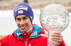Stefan Kraft (AUT), winner in Overall Ski Jumping World Cup classification celebrates  after the Ski Flying Hill Men's Individual Competition at Day 4 of FIS Ski Jumping World Cup Final 2017, on March 26, 2017 in Planica, Slovenia. Photo by Vid Ponikvar / Sportida