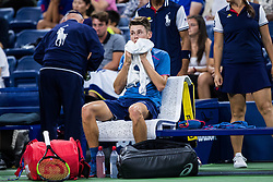 September 1, 2018 - Flushing Meadow, NY, U.S. - FLUSHING MEADOW, NY - SEPTEMBER 01: ALEX DE MINAUR (AUS) day six of the 2018 US Open on September 01, 2018, at Billie Jean King National Tennis Center in Flushing Meadow, NY. (Photo by Chaz Niell/Icon Sportswire) (Credit Image: © Chaz Niell/Icon SMI via ZUMA Press)