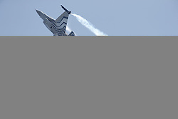 © Licensed to London News Pictures. 18/07/2015. RAF Fairford, UK. Begium Air Force F-16 Fighting Falcon. The Royal International Air Tattoo (RIAT). Photo credit : Ian Schofield/LNP