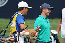 August 12, 2018 - St. Louis, Missouri, United States - Rory McIlroy (R) and his caddie Harry Diamond walk off the green during the final round of the 100th PGA Championship at Bellerive Country Club. (Credit Image: © Debby Wong via ZUMA Wire)