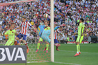Atletico de Madrid´s goalkeeper Jan Oblak during 2014-15 La Liga match between Atletico de Madrid and FC Barcelona at Vicente Calderon stadium in Madrid, Spain. May 17, 2015. (ALTERPHOTOS/Luis Fernandez)