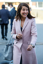 © Licensed to London News Pictures. 25/08/2015. Stevenage, UK. Labour Party leader candidate Liz Kendall attending a husting for Radio 5 at Stevenage Arts & Leisure Centre in Stevenage on Tuesday, 25 August 2015. Photo credit: Tolga Akmen/LNP