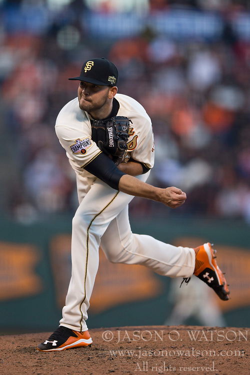SAN FRANCISCO, CA - APRIL 18:  Chris Heston #53 of the San Francisco Giants pitches against the Arizona Diamondbacks during the fifth inning at AT&T Park on April 18, 2015 in San Francisco, California.  The San Francisco Giants defeated the Arizona Diamondbacks 4-1. (Photo by Jason O. Watson/Getty Images) *** Local Caption *** Chris Heston