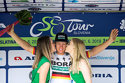 Pascal Ackermann (GER) of Bora Hansgrohe at ceremony after 1st Stage of 26th Tour of Slovenia 2019 cycling race between Ljubljana and Rogaska Slatina (171 km), on June 19, 2019 in  Slovenia. Photo by Matic Klansek Velej / Sportida