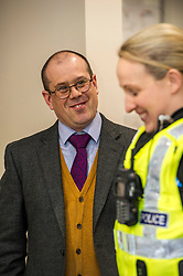 Pictured: Andrew McCall, Salvation Army, Regional Manager, East Scotland Division.<br /> <br /> Police Scotland's Chief Inspector Helen Harrison stopped by at the Lighthouse, at The Pleasance, Edinburgh, today to launch operation Winter City alongside the Salvation Army. The Annual multi-agency initiative involves Police Scotland which helps keep people safe over the Christmas and New Year period. <br /> <br /> Ger Harley | EEm Date