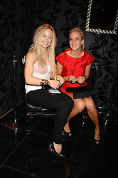 Left to right, ELLIE SHEPHERD and LADY LOUISA COMPTON at the opening of the new club Chloe, 3 Cromwell Road, London on 7th June 2007.<br />