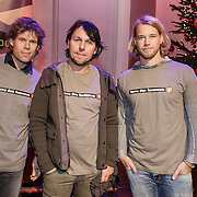 NLD/Hilversum/20141209 - Sky Radio Christmas Tree for Charity 2014, 3 J's, Jan Dulles, Jaap Kwakman