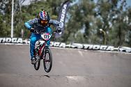 #122 (CARR Amanda) THA during practice at round 1 of the 2018 UCI BMX Supercross World Cup in Santiago del Estero, Argentina.