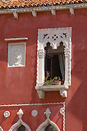Window of a Venetican house . Piran , Slovenia Visit our PHOTO COLLECTIONS OF SLOVANIAN  HISTOIC PLACES for more photos to download or buy as wall art prints https://funkystock.photoshelter.com/gallery-collection/Pictures-Images-of-Slovenia-Photos-of-Slovenian-Historic-Landmark-Sites/C0000_BlKhcYWnT4Sites/C0000qxA2zGFjd_k