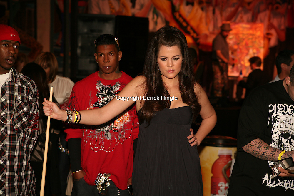 Khloe Kardashian at the Big Easy Billiard' Bash a celebrity pool tournament and party hosted by NFL Superstar Reggie Bush and NBA Superstar (SHAQ) Shaquille O'Neal at the Hilton Riverside Hotel in New Orleans, Louisiana on February 15th 2008.