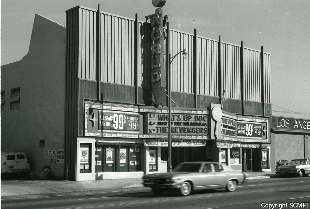 1972 World Theater on Hollywood Blvd. east of Gower St.