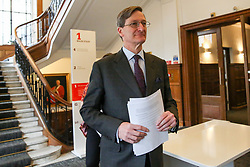 © Licensed to London News Pictures. 27/03/2019. London, UK. Dominic Grieve MP - Conservative former Attorney General at a People's Vote press conference in Westminster setting out an analysis of the different Brexit options facing Members of Parliament in indicative votes. Later today the MPs will votes on a series of alternative Brexit outcomes. Photo credit: Dinendra Haria/LNP
