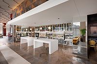Architectural interior of Wine Studio in Norfolk VA Hilton Hotel by Jeffrey Sauers of Commercial Photographics, Architectural Photo Artistry in Washington DC, Virginia to Florida and PA to New England