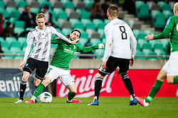 Ante Vukusic of NK Olimpija and Zan Karnicnik of NS Mura during the football match between NK Olimpija Ljubljana and NS Mura in 25. Round of Prva liga Telekom Slovenije 2019/20, on March 8, 2020 in Stadion Stozice, Ljubljana, Slovenia. Photo by Grega Valancic / Sportida