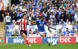 Myles Kenlock of Ipswich Town passes the ball under pressure - Mandatory by-line: Arron Gent/JMP - 10/08/2019 - FOOTBALL - Portman Road - Ipswich, England - Ipswich Town v Sunderland - Sky Bet League One