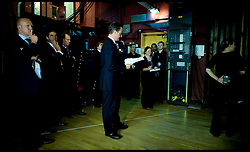 The Prime Minister David Cameron waits backstage before delivering  his speech to the Conservative Party Conference in Birmingham, Wednesday October 6,  2010. Photo By Andrew Parsons/i-images