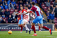 Doncaster Rovers midfielder Matty Blair (17) breaks into the box during the EFL Sky Bet League 1 match between Scunthorpe United and Doncaster Rovers at Glanford Park, Scunthorpe, England on 23 February 2019.
