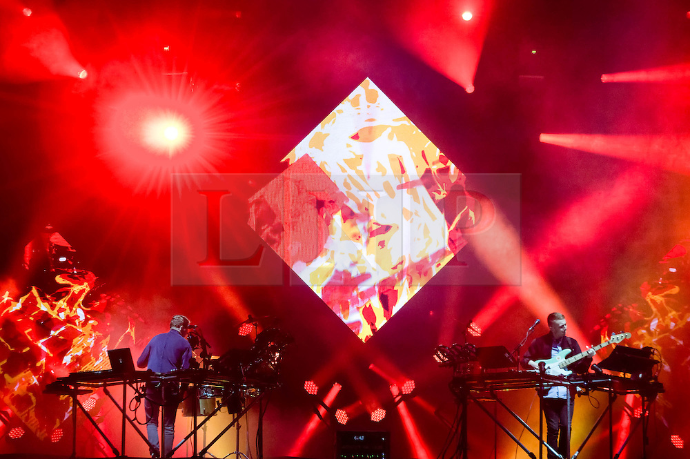 © Licensed to London News Pictures. 30/05/2014. Barcelona, Spain.   Disclosure performing live at  Primavera Sound Festival.  Disclosure are an English electronic music duo, consisting of brothers Guy and Howard Lawrence.  Their debut album Settle, released on 3 June 2013, was nominated for Best Dance/Electronica Album at the 2014 Grammy Awards.   Primavera Sound, or simply Primavera, is an annual music festival that takes place in Barcelona, Spain in late May/June within the Parc del Fòrum leisure site. Photo credit : Richard Isaac/LNP