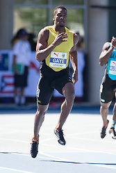 August 10, 2018 - Toronto, ON, U.S. - TORONTO, ON - AUGUST 10:  Demish Gaye (Jamaica), 400m semi-finals at the 2018 North America, Central America, and Caribbean Athletics Association (NACAC) Track and Field Championships on August 10, 2018 held at Varsity Stadium, Toronto, Canada. (Photo by Sean Burges / Icon Sportswire) (Credit Image: © Sean Burges/Icon SMI via ZUMA Press)