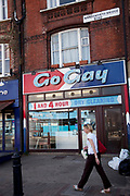 The amusingly named Go Gay dry cleaning service shop in Wandsworth, London