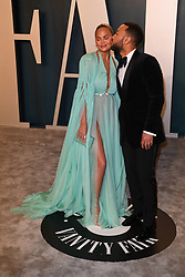 Chrissy Teigen and John Legend attending the Vanity Fair Oscar party at Wallis Annenberg Center for the Performing Arts on February 09, 2020 in Beverly Hills, Los Angeles, CA, USA, February 9, 2020. Photo by David Niviere/ABACAPRESS.COM