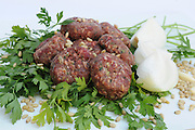 Raw hand made meat cutlets