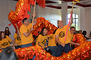 Mandarin Immersion Magnet PTO performs the traditional dragon dance.