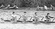 London, Great Britain.<br /> Quadruple Scull. Tideway Scullers School [TSS]. competing in the <br /> 1986 Fours Head of the River Race, Reverse Championship Course Mortlake to Putney. River Thames. Saturday, 15.11.1986<br /> <br /> [Mandatory Credit: Peter SPURRIER;Intersport images] 15.11.1986