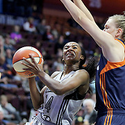 UNCASVILLE, CONNECTICUT- MAY 05:  Zahna Medley #14 of the San Antonio Stars in action during the San Antonio Stars Vs Connecticut Sun preseason WNBA game at Mohegan Sun Arena on May 05, 2016 in Uncasville, Connecticut. (Photo by Tim Clayton/Corbis via Getty Images)