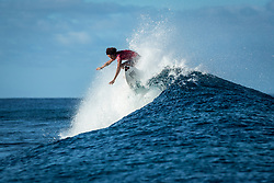 Michael February (ZAF) ranked equal 5th after placing 2nd in  Quarters 1 at the Tahiti Pro 2018 ,Teahupoo, French Polynesia