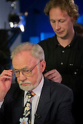 St Petersburg, Russia, 30/05/2005..Peter Dussmann, CEO of the Dussmann Group, visits Russia in connection with contracts his company have signed to upgrade and maintain the city's cleaning and related services. Interview at St Petersburg NTV television studios.