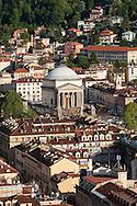Torino e la chiesa della Gran Madre vista dalla Mole Antonelliana.