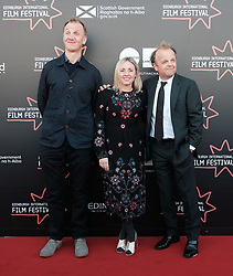 Edinburgh International Film Festival, Saturday 24th June 2017<br /> <br /> KALEIDESCOPE UK PREMIERE<br /> <br /> Rupert Jones, Sinead Matthews and Toby Jones<br /> <br /> (c) Alex Todd | Edinburgh Elite media