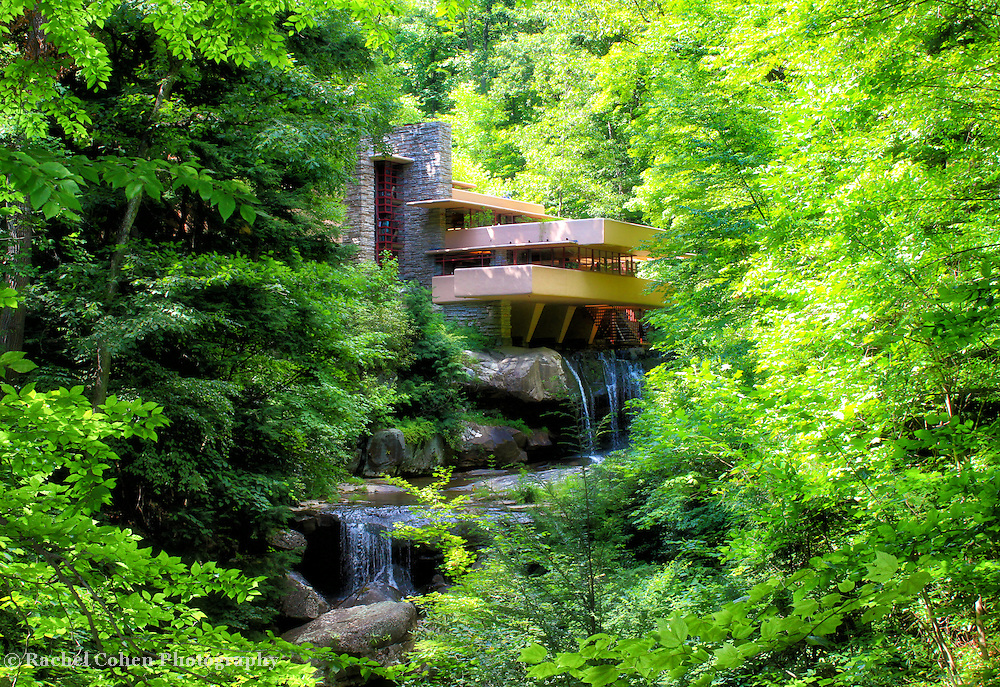 """""""Wishes on Fallingwater""""<br /> <br /> Gorgeous and iconic Fallingwater in a dreamy summer setting!"""