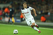 Harry Winks of Tottenham Hotspur in action. UEFA Champions league match, group E, Tottenham Hotspur v CSKA Moscow at Wembley Stadium in London on Wednesday 7th December 2016.<br /> pic by John Patrick Fletcher, Andrew Orchard sports photography.