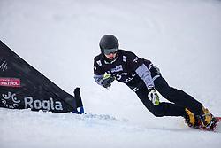 Arnaud Gaudet (CAN) during Final Run at Parallel Giant Slalom at FIS Snowboard World Cup Rogla 2019, on January 19, 2019 at Course Jasa, Rogla, Slovenia. Photo byJurij Vodusek / Sportida