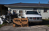 Warning to looters after Hurricane Michael in Lynn Haven, Florida that was hit hard by the storm.